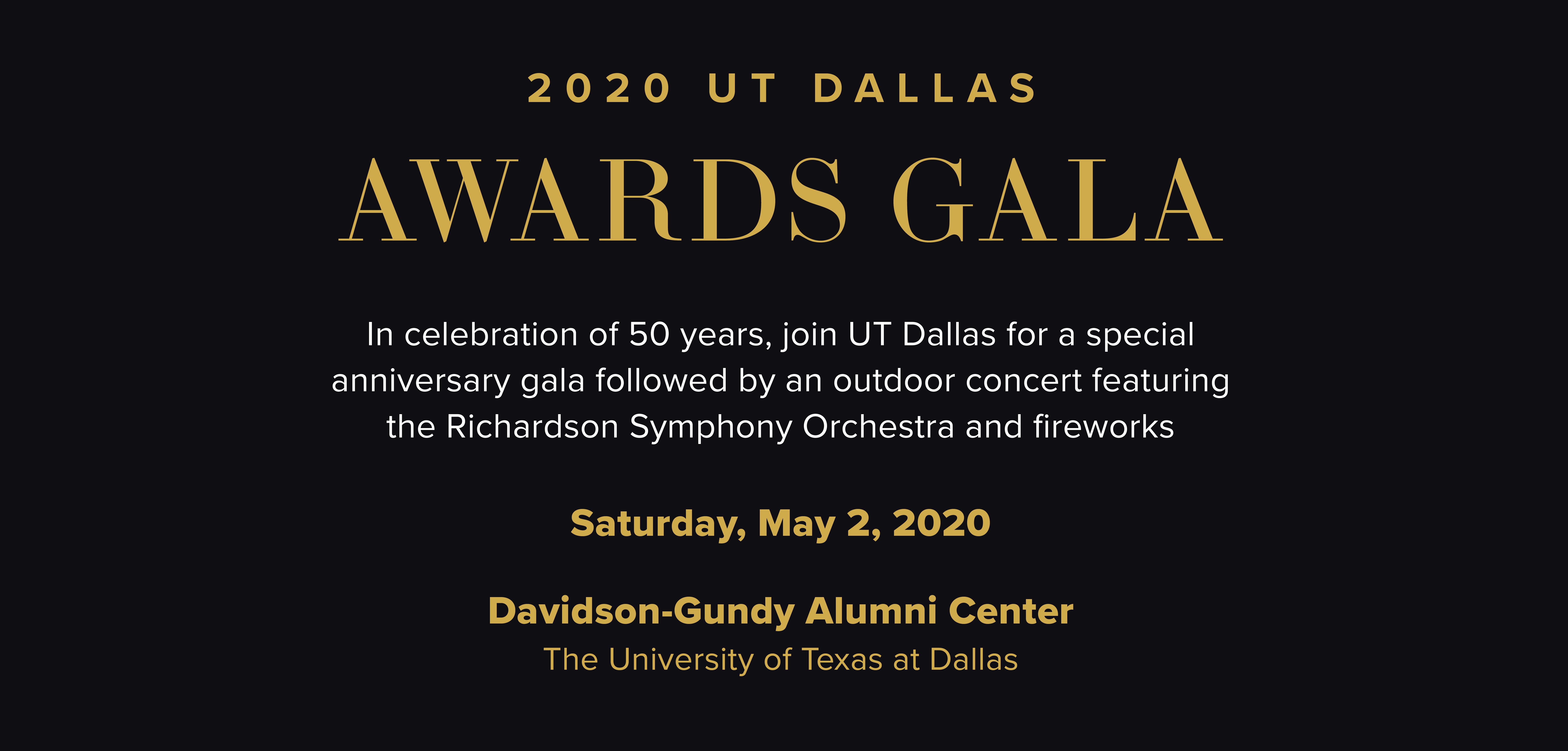 2020 UT Dallas Awards Gala