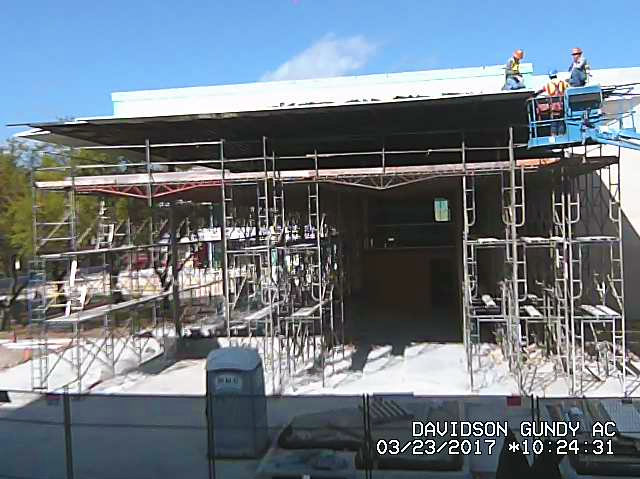 still from Davidson-Gundy Alumni Center construction webcam.