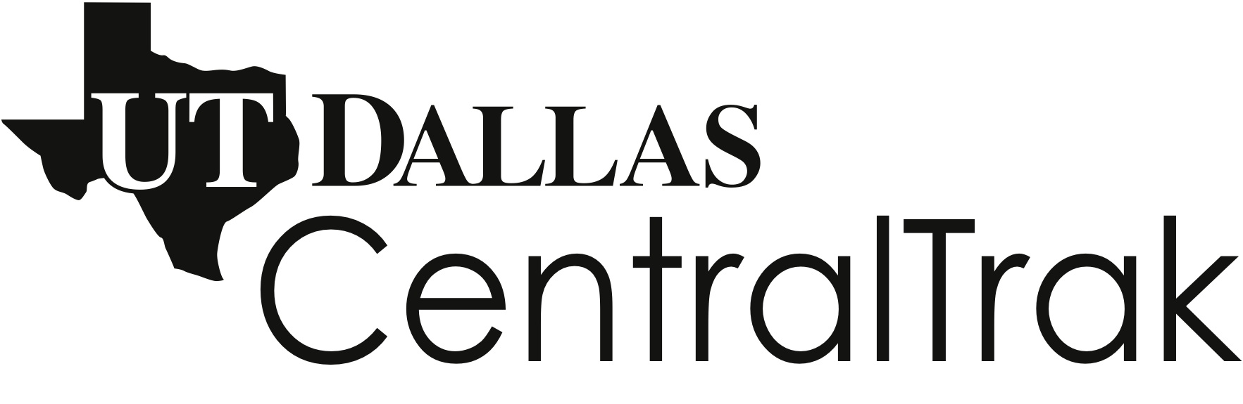 Logo for CentralTrak, the artist residency program at The University of Texas at Dallas